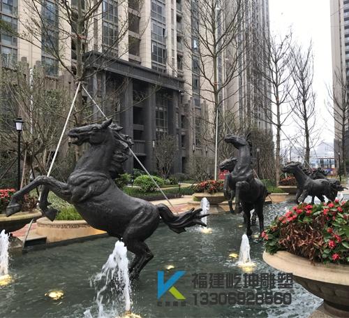 平潭大卫城群马雕塑